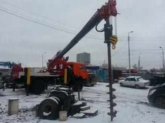 Свежее изображение  Аренда ямобура Камаз,услуги японских автобуровых 34579919 в Москве