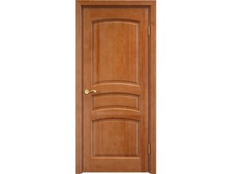 Просмотреть foto  Межкомнатная дверь, массив сосны, орех 10%, Ш 116, пг, плоский, 34594885 в Москве