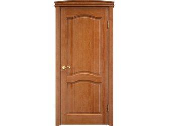 Новое изображение  Межкомнатная дверь, массив сосны, орех 10 процентов, Ш 7, пг, плоский капитель, 34608281 в Москве