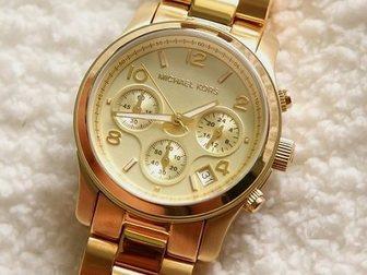 Скачать фотографию Часы Часы женские Michael Kors, золотые 34752240 в Москве