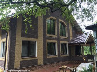 Свежее фотографию  Тёплый деревянный дом в каменной рубашке! 37303490 в Москве