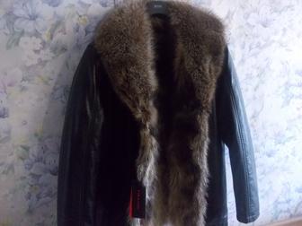 Просмотреть изображение  Куртка кожаная с мехом волка Италия 38003985 в Москве