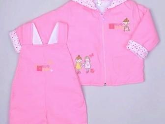 Смотреть фото  Костюм утепл розовый с ромашками 7-12 мес 3 пр, Одежда малышам, 39801986 в Москве