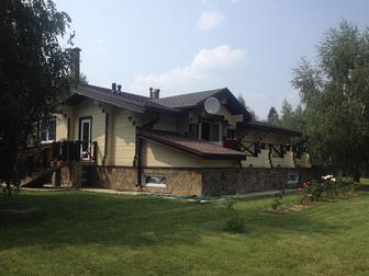 Скачать бесплатно фотографию Дома Продаётся 2-х этажный дом из бруса в стиле Шале площадью 337 м2, МО, Истринский р-н, пос, Северный 43086585 в Москве