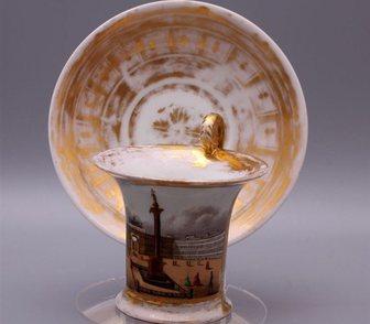 Фото в Мебель и интерьер Посуда Чайная пара с видами Санкт-Петербурга  Россия, в Москве 0