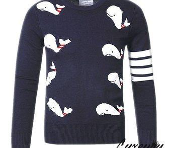 Изображение в Одежда и обувь, аксессуары Мужская одежда Эксклюзивный мужской полувер с дельфинами в Москве 4800