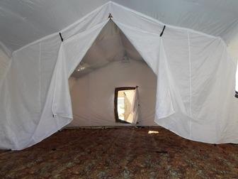 Увидеть foto Товары для туризма и отдыха Армейская палатка Берег-30М2 6, 75м*6, 0 м*3, 0, (2х слойная) 30890098 в Мурманске