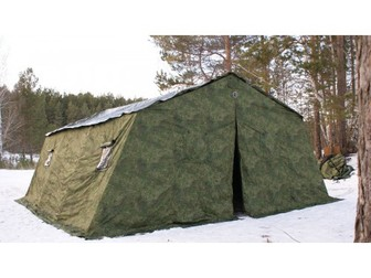 Уникальное изображение Товары для туризма и отдыха Армейская палатка Берег-30М2 6, 75м*6, 0 м*3, 0, (2х слойная) 30890098 в Мурманске