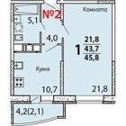 Продается 1-к квартира в новом жилом комплексе