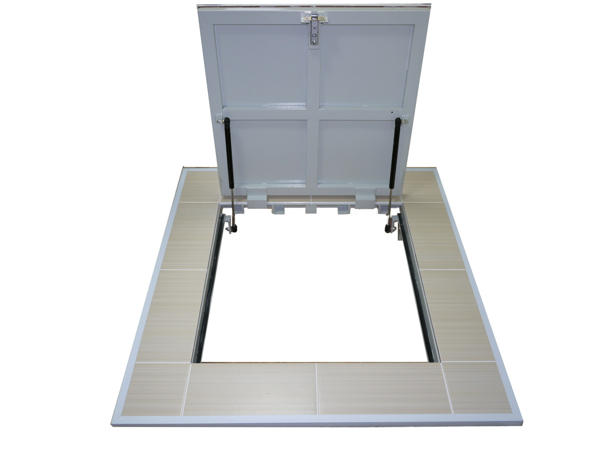 напольный потолочный люк на газовых амортизаторах утеплённый цена купить