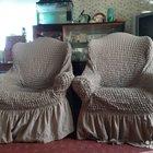 Два кресла в новых чехлах