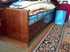 Изображение в   Продаю кровать с деревянными спинками и пружинным в Новочебоксарске 2000