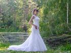 Новое foto Свадебные платья Шикарное счастливое свадебное платье, Силуэт - рыбка, 39224544 в Новосибирске