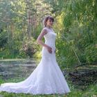 Шикарное счастливое свадебное платье, Силуэт - рыбка