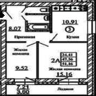 2-к 41,16 кв, м, п, Краснообск, Западная 254