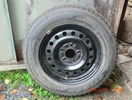 для ниссана продажа колёса 195-65-15 (тигр)шипованные сербия на дисках 5 дыр от