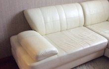 Кожаный диван-кровать, б/у