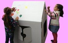 Редкий и оригинальный картонный Эко-домик для игры