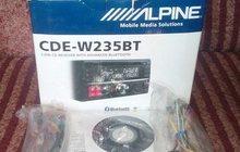 Продам автомагнитолу alpine cde-w235bt, Новая