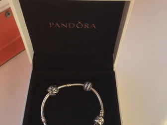 Уникальное фото  Оригинальный браслет Pandora 16см плюс 3 шарма 37136595 в Новосибирске