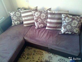 Продам абсолютно новый угловой диван с большим коробом для белья,  Очень удобен для квартиры студии, т, к,  компактный и очень большое спальное место,  Находится в Новосибирске