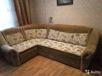 Продаётся большой диван,  Изготовлен из качественных материалов,  Состояние хорошее, обивка вся целая, не продавлен(наполнитель без пружин),  Раздвигается легко, в Новосибирске