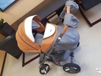 Модель коляски, сочетающей в себе глубокую прогулочную версию бренда ADAMEX, оснащенная удобными гелевыми колесами,  Гелиевые колеса идеально поглощают удары,  Их в Новосибирске