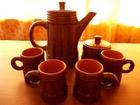 Изображение в Мебель и интерьер Посуда керамика, темно-коричневый, кофейник, сахарница, в Омске 100