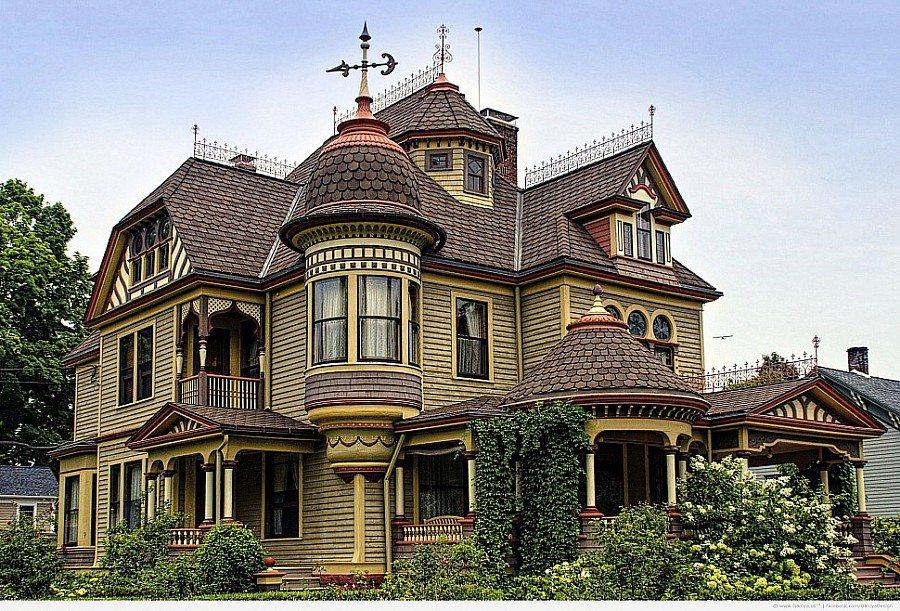 Красивые крыши коттеджей фото
