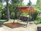 Фотография в Мебель и интерьер Мебель для дачи и сада Реализуем садовые, разборные качели. Размер в Печоры 10500
