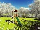 Детская игровая площадка песочница горка