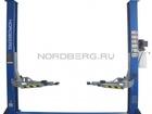 Новое фото Прочее оборудование Подъемник двухстоечный, г/п 4 тонны Nordberg N4120A-4T (220B/380B) 39055094 в Перми