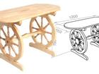 Фотография в Мебель и интерьер Мебель для дачи и сада Материал - массив сосны. Изделия выполняются в Питере 9300