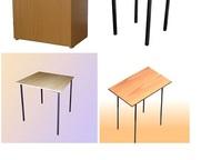 Стол обеденный, табуретки, тумбы прикроватные Состав ДСП, ножки металлические, ш