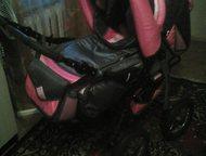 Продам детскую коляску новая б. у. 3 месяца. Надувные колёса, дождевик, люлька-п