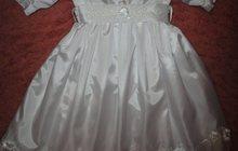 Крестильное платье в пол ручной работы на девочку (6 мес - 2 года)