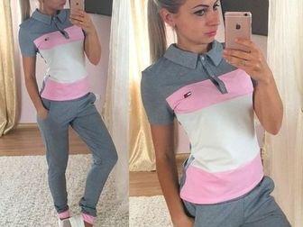 Просмотреть изображение Женская одежда Спортивный костюм Шанель с сердцем синий 36780217 в Ростове-на-Дону
