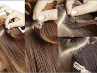 Волосы для наращивания, волосы на заколках натуральные Натуральные волосы на зак