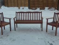 Мебель из дерева ручной работы Комплект мебели для дома и сада изготовлен из мас