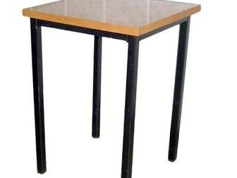 Скачать бесплатно фотографию Строительные материалы Стол обеденный(ЛДСП) и табурет(металл/ ДСП) 33233600 в Самаре