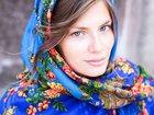 Просмотреть изображение Женская одежда Платки в русском стиле 115х115 см, шерсть 34087087 в Санкт-Петербурге