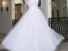 Уникальное фото Свадебные платья Свадебное белое платье, накидка на плечи и фата 34499136 в Санкт-Петербурге