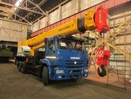 Автокран Ивановец КС-55735-1 с гуськом, новый Базовое шасси 6520, 6х4  Грузоподъ