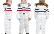 Зимний детский комбинезон на пуху «Белая Зима»