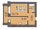 Фотография в Недвижимость Продажа квартир Продаётся однокомнатная квартира, в новом в Саратове 1200000