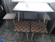 стол кухонный,4 табуретки, стол кухонный, 4 табуретки.