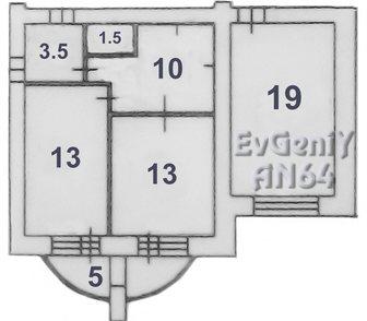 Фото в Недвижимость Продажа квартир Продаётся двухкомнатная квартира, в новом, в Саратове 1750000