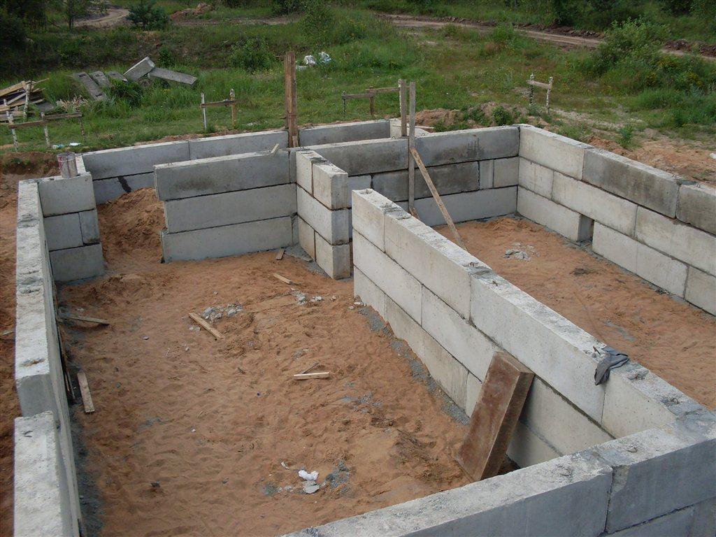 Фото строительство дома из блоков своими руками