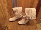Фото в Одежда и обувь, аксессуары Женская обувь сапоги демисезонные, замшевые, 38 размер в Смоленске 800