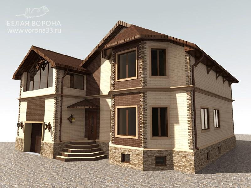 Интерьер фасада частного дома фото